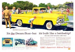 1958 GMC truck magazine advertisement